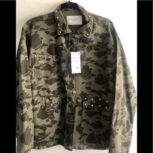 Zara Jackets & Coats - Zara Camouflage jacket(NEW)